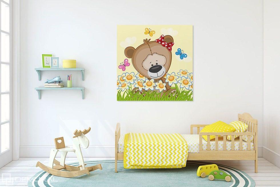 nounours printaniers tableaux pour chambre d 39 enfant tableaux demural. Black Bedroom Furniture Sets. Home Design Ideas